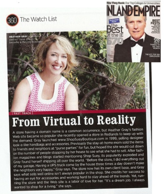shop suey's heather gray in Inland Empire Magazine