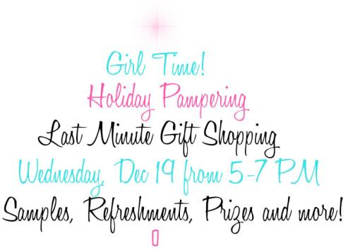 holiday pampering party