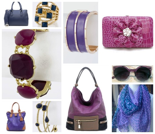 purple and blue accessories inspired by Obama inauguration day outfits