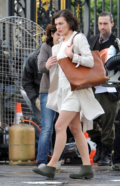 Milla Jovovich Oversized Bag