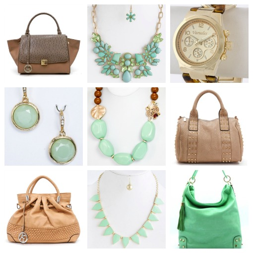 Shop Suey Boutique mint and nude collection