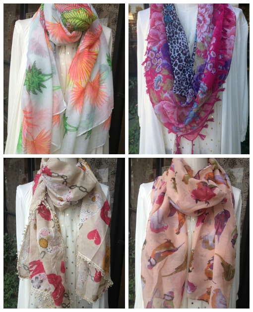 Spring scarves from Shop Suey Boutique