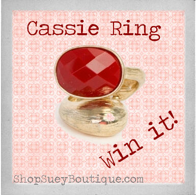 Enter to win a Cassie Ring from Shop Suey Boutique