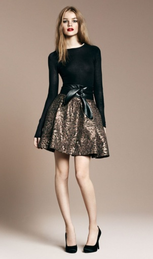 metallic_skirt
