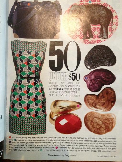 March 2013 Redbook features Shop Suey Boutique Cassie ring