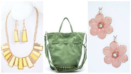 sherbert colored accessories from Shop Suey Boutique
