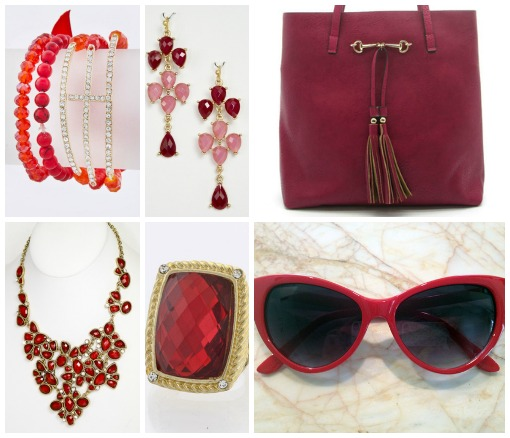 Shop Suey Boutique red accessories