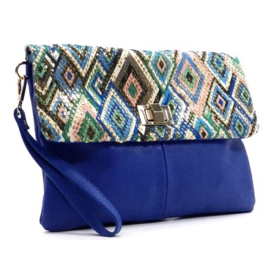 Aztec print BLANCHE clutch from Shop Suey Boutique