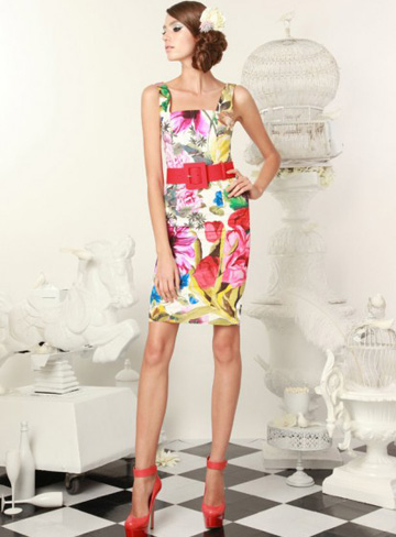 easter-printed-sheath-dress