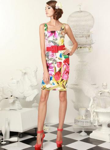 easter-printed-sheath-dress