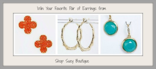 Win earrings from ShopSueyBoutique.com