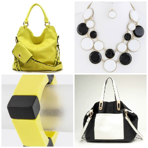 Black and White with a pop of yellow: spring trend