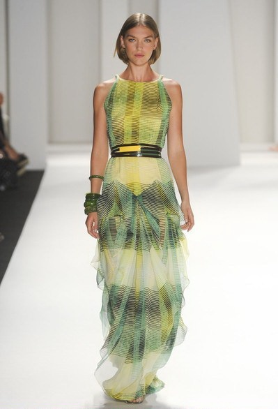 On the Runway: Lemon-lime dress