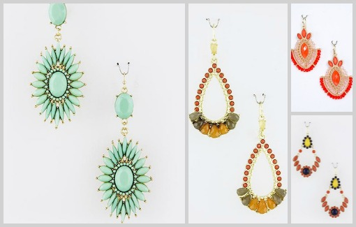 exotic earrings from Shop Suey Boutique