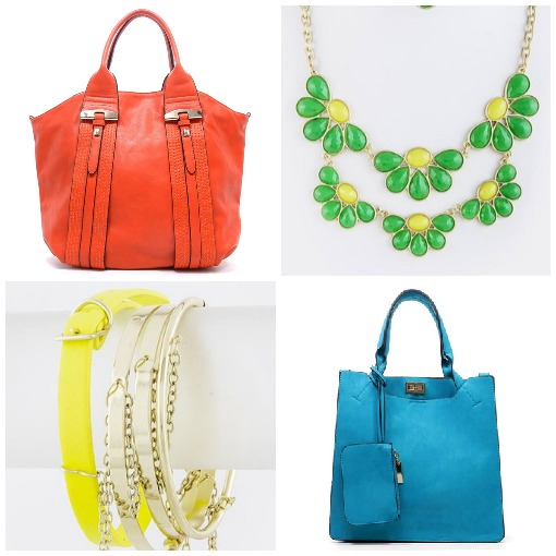 Add a pop of color with accessories from Shop Suey Boutique