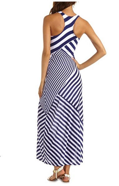 blue stripe maxi