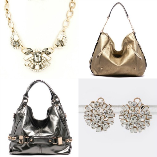 Metallic and sparkle accessories from Shop Suey Boutique