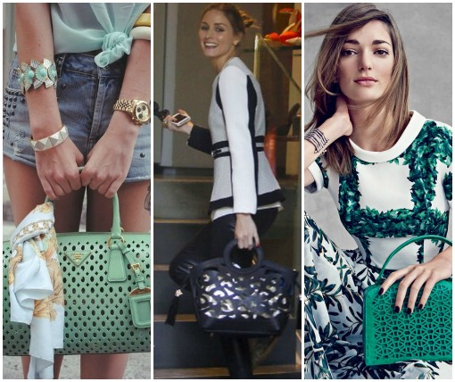 How to wear a laser cut handbag
