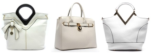 white handbags from Shop Suey Boutique