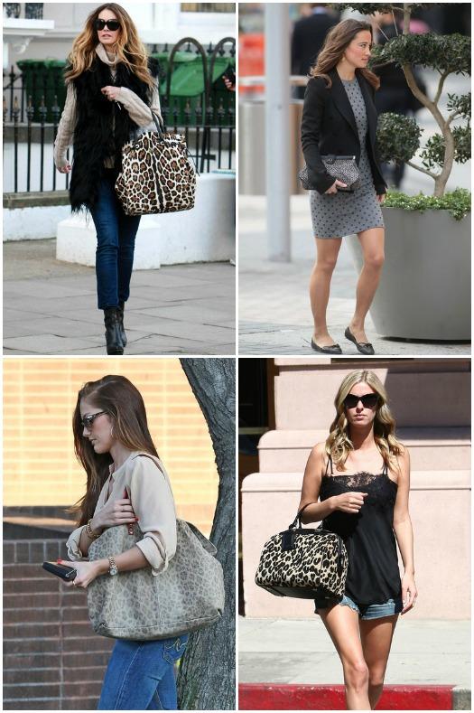 celebrities carrying animal print handbags