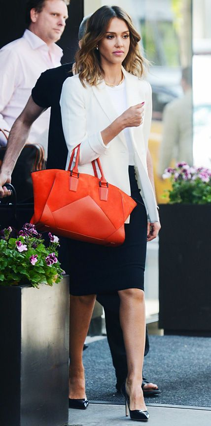 Jessica Alba in chic office wear
