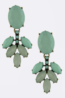 KATRINA FAUX JEWEL ORNATE EARRINGS | shopsueyboutique.com