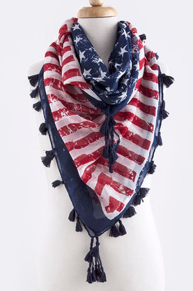 Flag scarf from Shop Suey Boutique